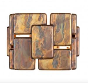 Aplica maro din alama Bruto Wall Oxidized Mini Versmissen
