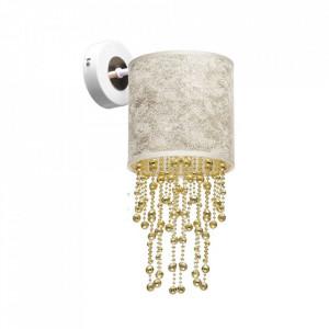 Aplica multicolora din metal si textil Almeria Gold Milagro Lighting