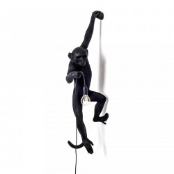 Aplica neagra din rasina The Monkey Left Seletti