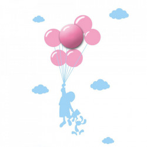 Aplica roz/albastra din plastic Sticker Balloons Milagro Lighting