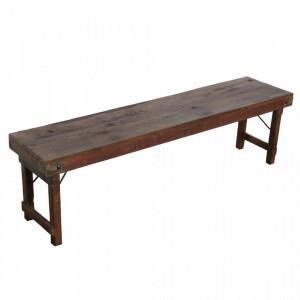 Bancheta maro din lemn 160 cm Tessa Raw Materials