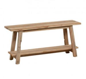 Bancheta maro din lemn de tec pentru exterior 100 cm Safara La Forma