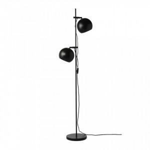 Baza neagra din metal cu 2 becuri pentru lampadar 149 cm Black Frandsen Lighting
