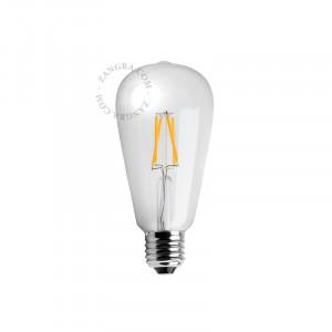 Bec cu filament Edison dimabil E27 3,5W Garyn Zangra