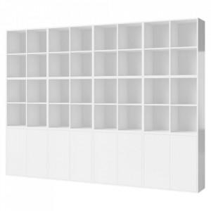 Biblioteca alba din MDF 210 cm Combination Large Bolia
