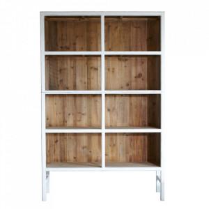 Biblioteca alba/maro din lemn 230 cm Bellport LifeStyle Home Collection
