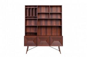 Biblioteca maro din lemn de trandafir 150x193 cm Capetown Versmissen