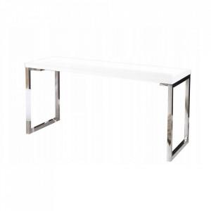 Birou alb din MDF si metal 60x160 Yvonne Invicta Interior