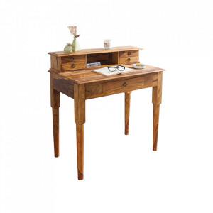 Birou maro din lemn de palisandru indian 50x90 cm Hemingway Invicta Interior