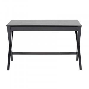 Birou negru din MDF si lemn 60x120 cm Writex Actona Company