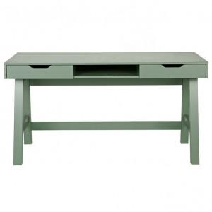 Birou verde din lemn 62x140 cm Nikki Woood