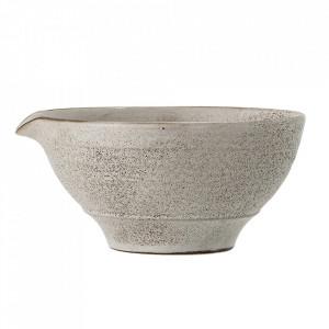 Bol alb/maro din ceramica 1250 ml Thea Bloomingville
