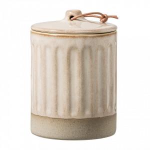 Borcan crem din ceramica cu capac 350 ml Nature Bloomingville