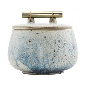 Borcan cu capac multicolor din ceramica 12x14 cm Diva House Doctor