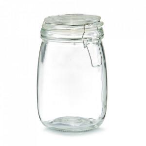 Borcan cu capac transparent din sticla 1000 ml Pulse Zeller