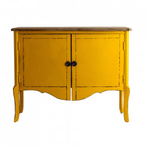 Bufet inferior galben mustar/maro din lemn 120 cm Samari Avi Vical Home