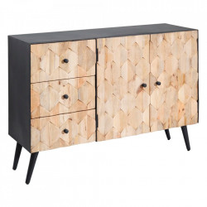 Bufet inferior negru/maro din lemn de mango si fier 120 cm Adele Ixia