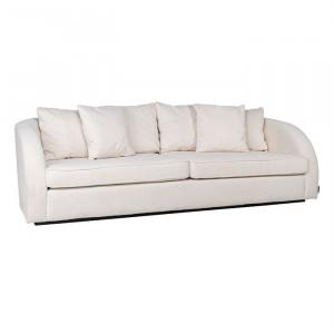 Canapea alba din poliester pentru 3 persoane Darwin Richmond Interiors