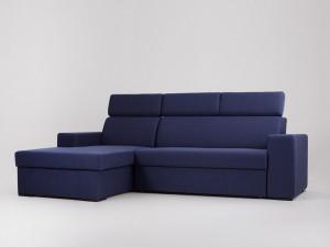 Canapea albastra din poliester pentru 2 persoane Atlantica Custom Form