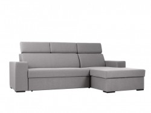 Canapea extensibila cu colt gri din textil si lemn 250 cm Atlantica Custom Form