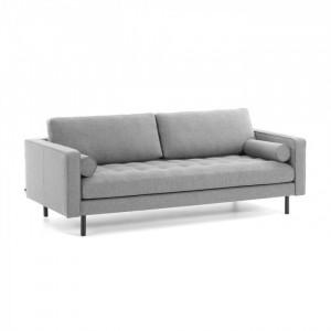Canapea gri pentru 3 persoane Debra Kave Home