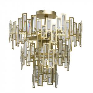 Candelabru auriu din metal cu 5 becuri Neoclassic Crystal MW Glasberg