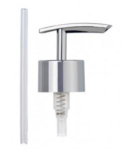 Capac argintiu din plastic pentru dispenser Replacement Pump Head Flat Wenko