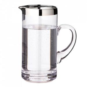 Carafa argintie/transparenta din sticla cristal 1 L Robert Edzard