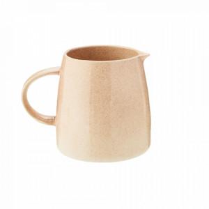 Carafa crem din ceramica 14x18 cm Powder Jug Madam Stoltz
