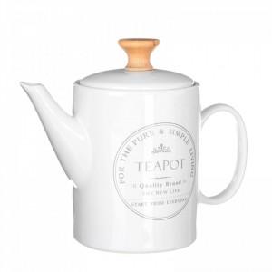 Ceainic alb din ceramica 1,1 L Porin Unimasa