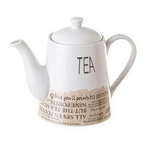 Ceainic alb din ceramica 1 L Garve Unimasa