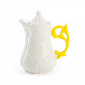 Ceainic alb din portelan 13x23 cm I-Wares Teapot Seletti