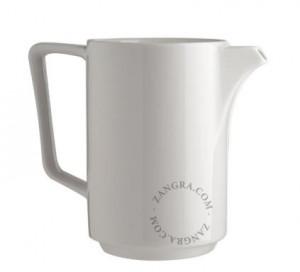 Ceainic alb din portelan 15x17,5 cm Sara Zangra