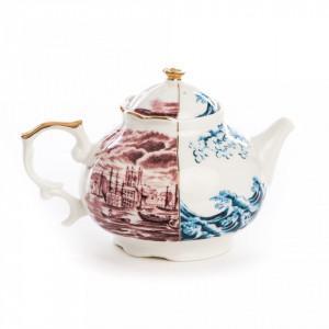Ceainic din portelan 13x15 cm Hybrid Smeraldina Seletti