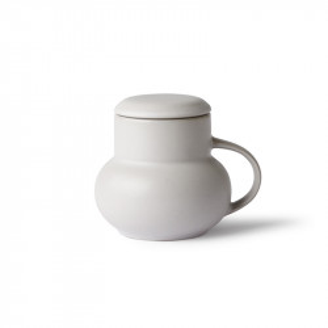 Ceainic gri din ceramica 10 cm Bubble M HK Living
