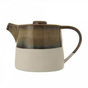 Ceainic maro/crem din ceramica 1 L Heather Bloomingville