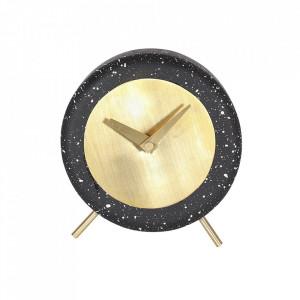 Ceas de masa negru rotund din terrazzo 17 cm Muzz Zago