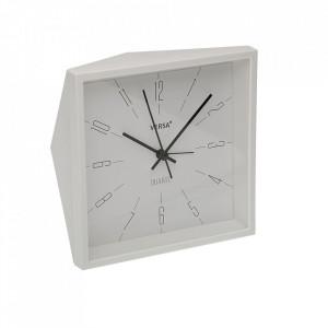 Ceas de masa patrat alb din plastic 15x15 cm Minnie Versa Home