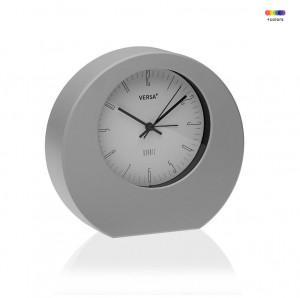 Ceas de masa rotund gri/alb din plastic 17x18,2 cm Grey Alarm Clock Versa Home