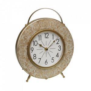 Ceas de masa rotund maro din MDF 29 cm Thea Versa Home