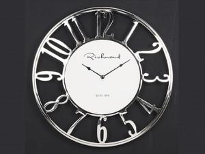 Ceas de perete patrat argintiu/negru din aluminiu si sticla 75x75 cm Westin Richmond Interiors