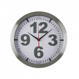 Ceas de perete rotund argintiu din metal 30 cm Jasper Versa Home
