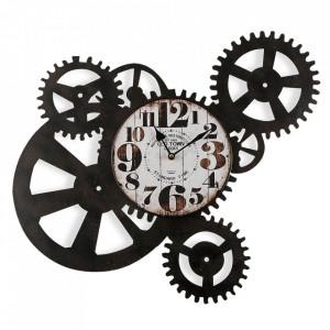 Ceas de perete rotund maro/alb din metal 54 cm Restore Versa Home