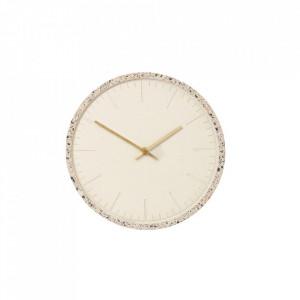Ceas de perete rotund multicolor din ciment si alama 30 cm Terrazzo Clock Hubsch