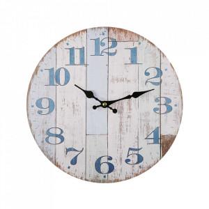 Ceas de perete rotund multicolor din metal 28 cm Aldeia Versa Home