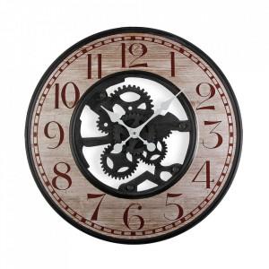 Ceas de perete rotund multicolor din metal 59 cm Hockai Versa Home