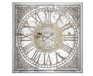 Ceas perete patrat din metal si ceramica 82x82 cm Owen Richmond Interiors