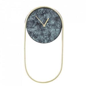 Ceas verde oval din metal 20x40 cm Bloomingville