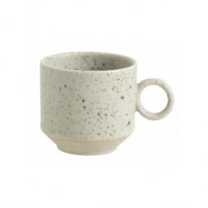 Ceasca bej nisipiu din ceramica 5,5x6 cm Grainy Nordal