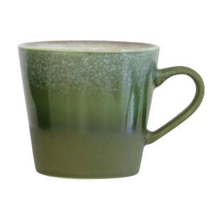 Ceasca verde din ceramica 300 ml 70's HK Living